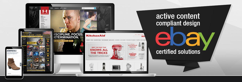 Active Content compliant design, eBay certified solutions