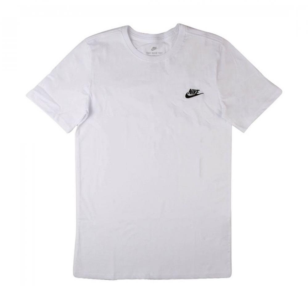 nike futura men 39 s white embroidered cotton short sleeve. Black Bedroom Furniture Sets. Home Design Ideas