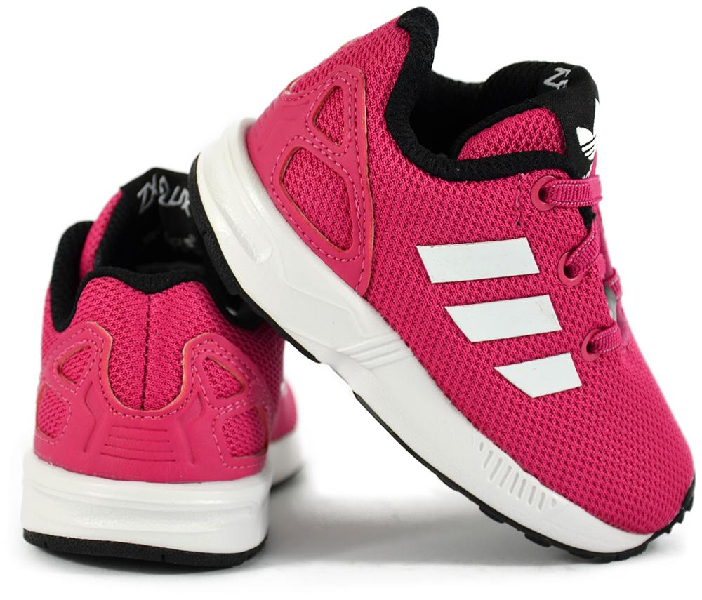 adidas originals girls pink mesh upper zx flux el trainers. Black Bedroom Furniture Sets. Home Design Ideas