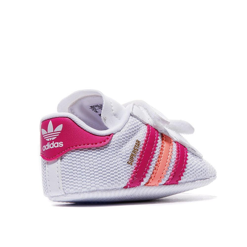 New adidas originals superstar shelltoe baby girls white