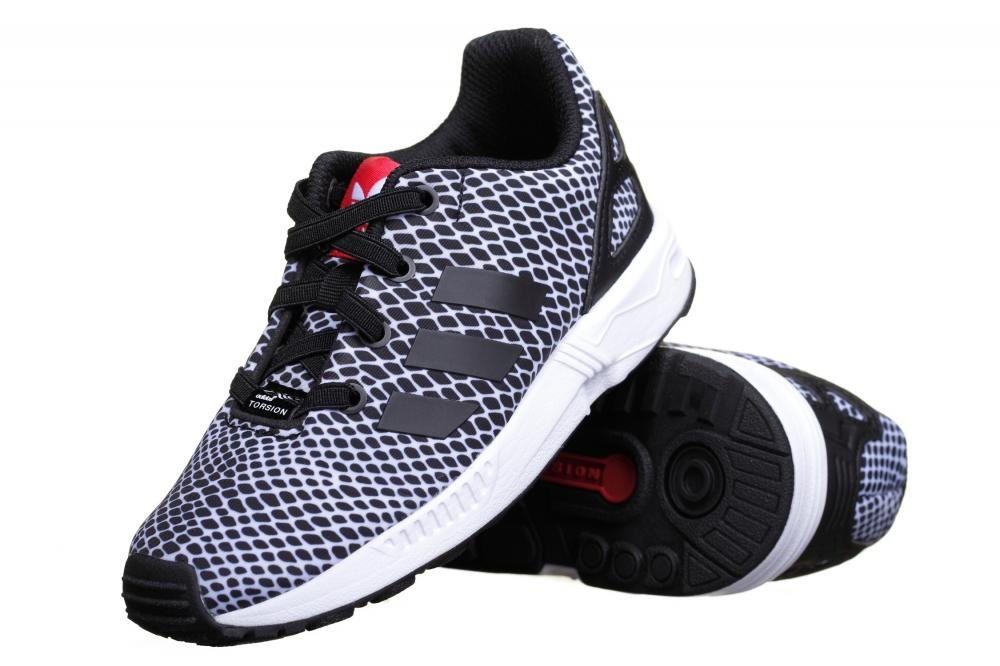 new arrival 18f6e e468a Black ZX Flux Plus Trainers Mens  Trainers Shoes Men TK Maxx