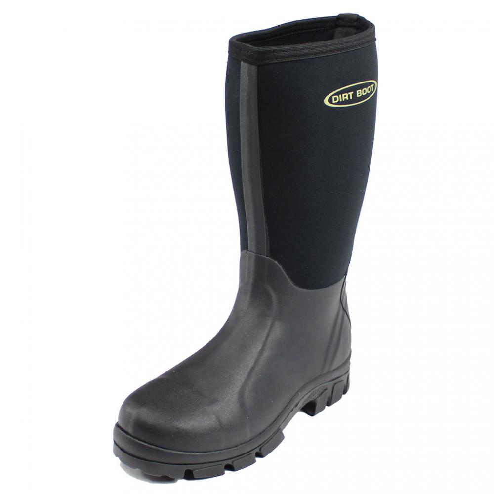 Dirt boot neoprene wellington muck field fishing boots for Rubber fishing boots