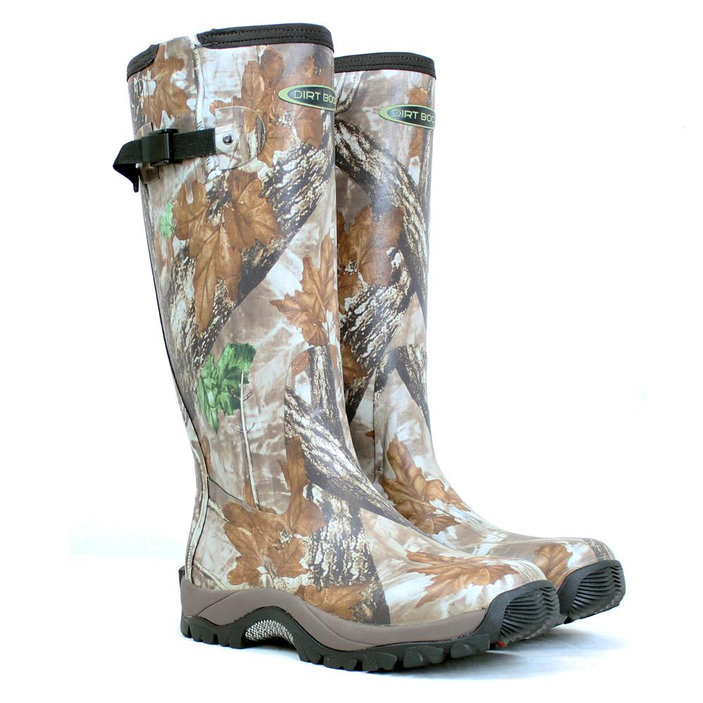 DIRT BOOT NEOPRENE RUBBER WELLINGTON MUCK BOOT PRO SPORT HUNT ZIP ...