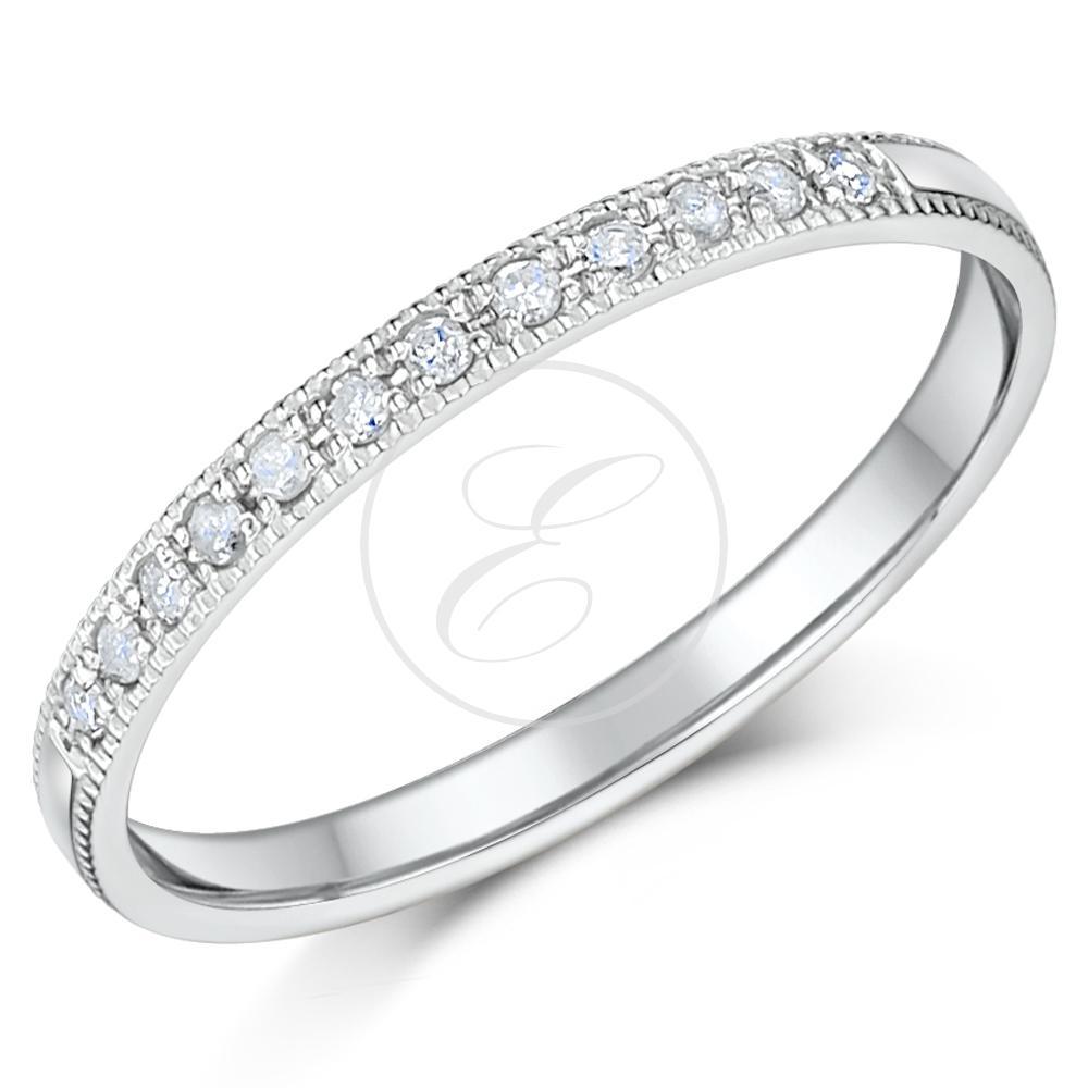 Palladium Ring 950 Diamond Eternity Band