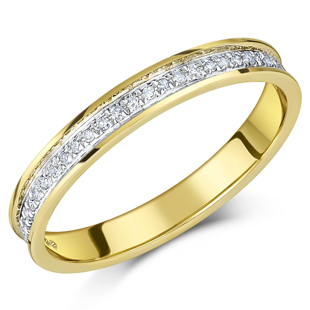 9ct yellow gold channel set diamond eternity ring. Black Bedroom Furniture Sets. Home Design Ideas
