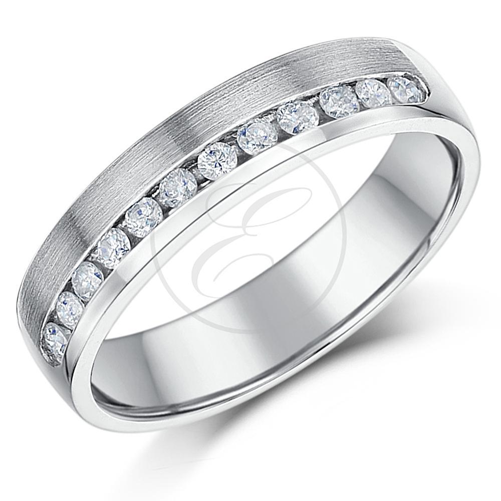 Palladium Diamond Ring Channel Set Solid Palladium 4.5mm