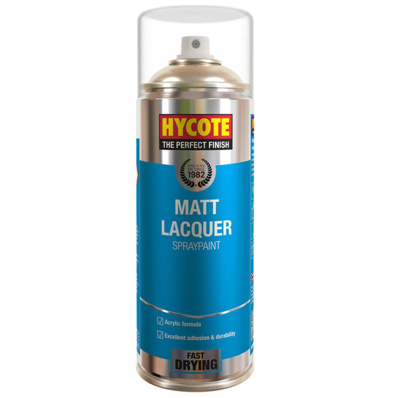 Matt Clear Lacquer Spray Paint Hycote 400ml Aerosol Acrylic Formula Top Coat Ebay
