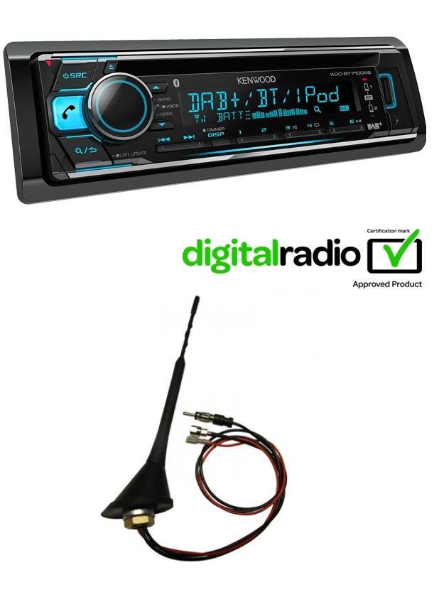 kenwood kdc bt710dab car radio stereo dab cd mp3 usb bt. Black Bedroom Furniture Sets. Home Design Ideas