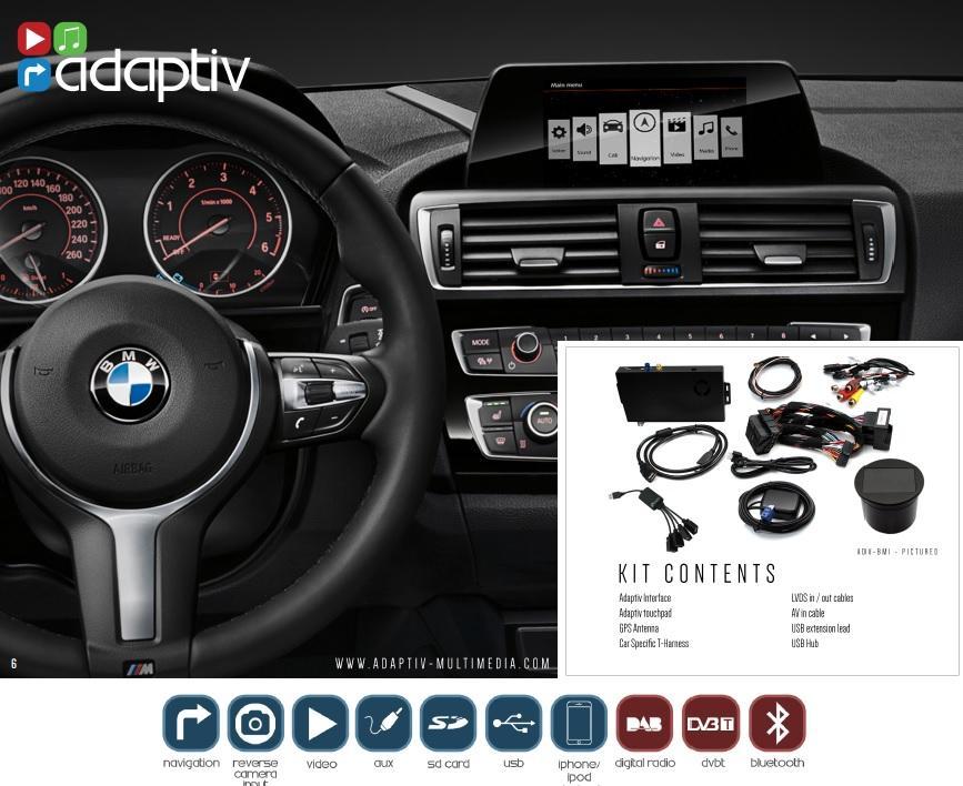 adaptiv bmw 3 series f30 12 on add on navigation ipod usb aux sd optional dab tv ebay. Black Bedroom Furniture Sets. Home Design Ideas