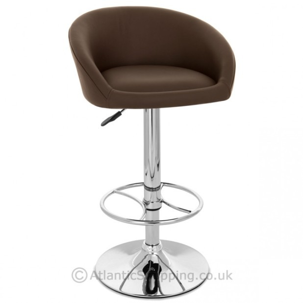 Zenith Real Leather Chrome Kitchen Breakfast Bar Stool Ebay