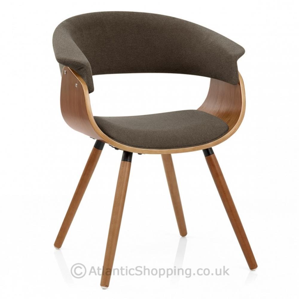 Grafton Wooden Walnut Finish & Fabric Kitchen Dining Chair