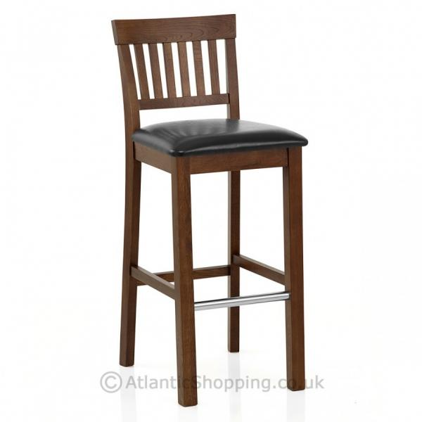 grasmere wooden dark oak faux leather kitchen breakfast bar stool