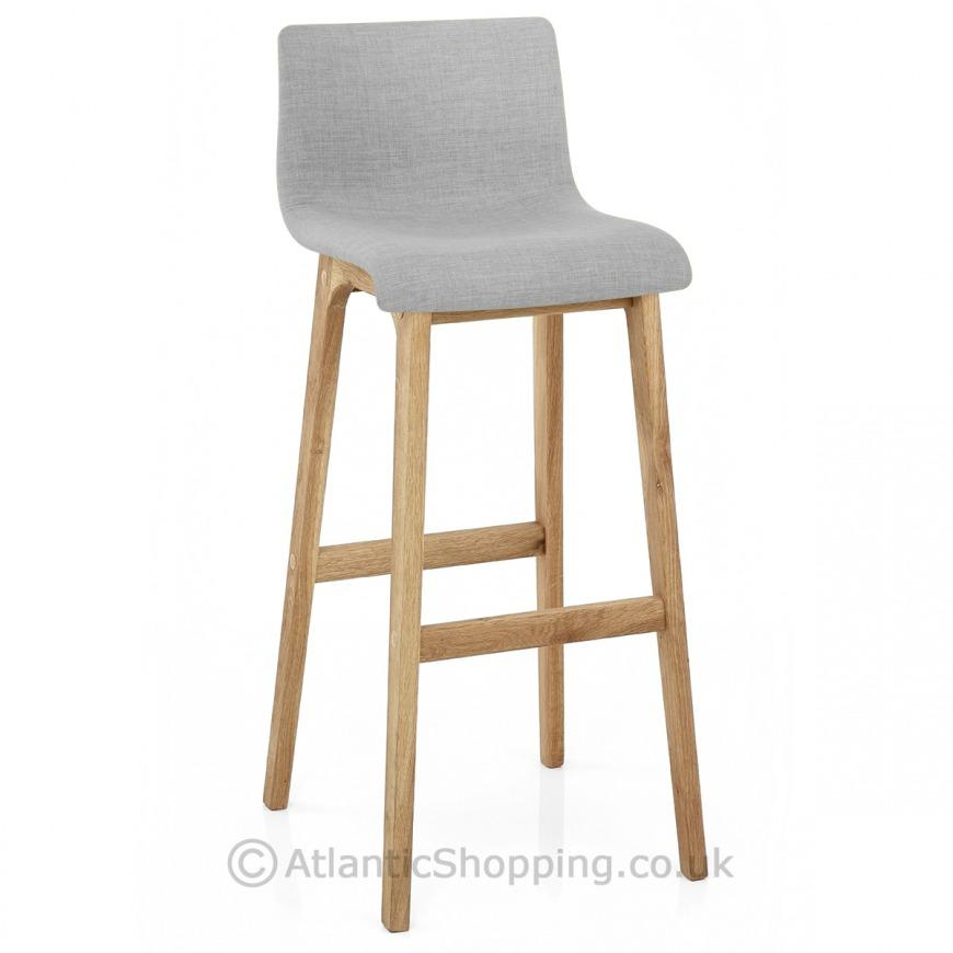 Drift Wooden Oak Amp Fabric Kitchen Breakfast Bar Stool Ebay