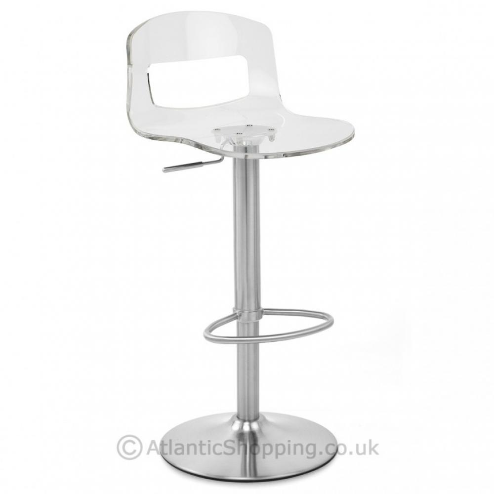 Stardust Brushed Acrylic Kitchen Breakfast Bar Stool Ebay