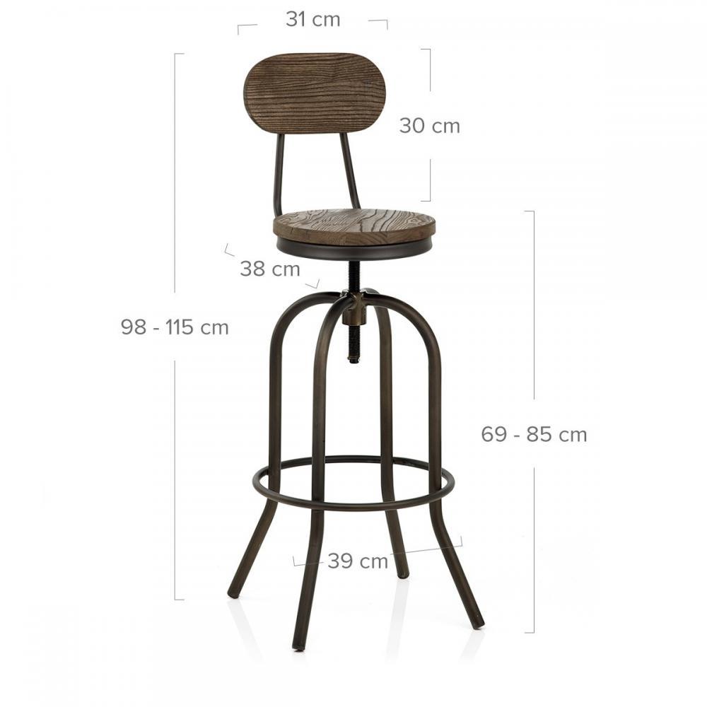 Industrial Kitchen Auctions: Auction Vintage Swivel Dark Wood Industrial Style Kitchen