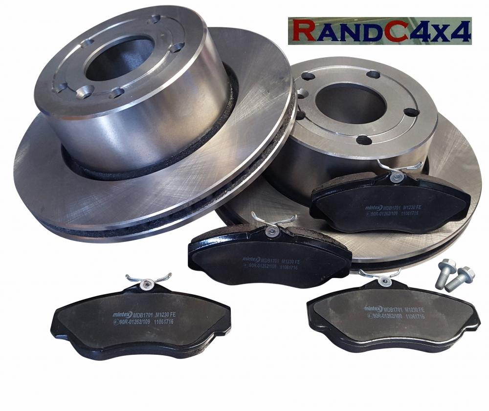 Land Rover Discovery 2 Front Brake Disc Set And MINTEX