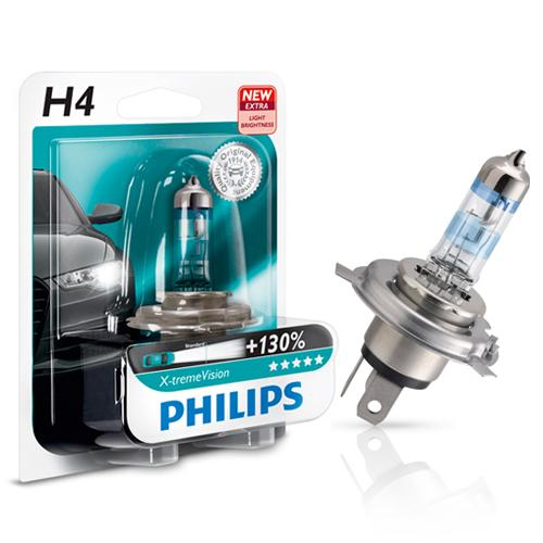 philips x tremevision 130 headlight bulbs single twin packs available h1 h4 h7. Black Bedroom Furniture Sets. Home Design Ideas