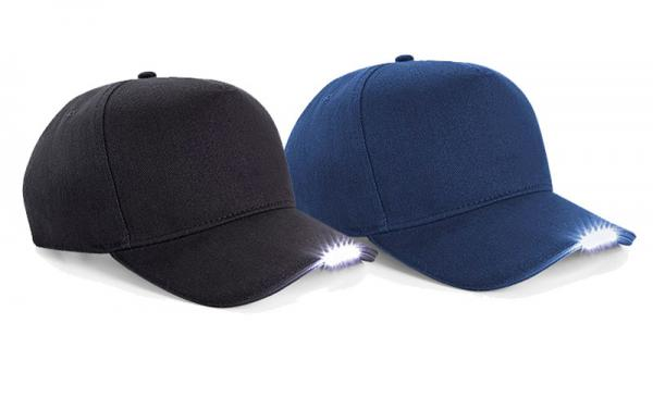 baseball cap with led lights in brim uk caps built mounted light hat steady flashing mode wholesale
