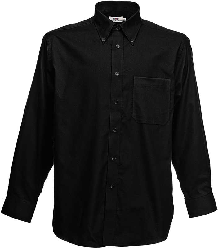 Fruit of the loom oxford weave long sleeve button down for Oxford long sleeve button down shirt