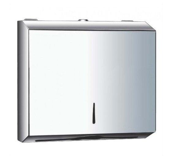 METAL C Fold POLISHED Chrome Stainless Steel Hand Paper Towel Dispenser  Silver Part 41