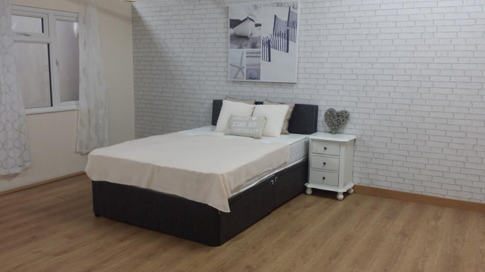 Pocket memory bed divan mattress headboard 5ft kingsize for Divan 5ft beds