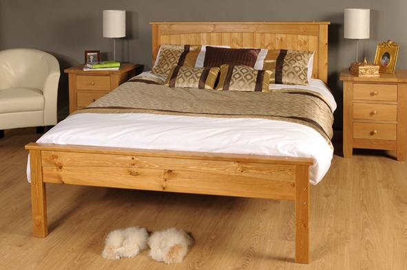Wooden King Size Bed Frame 591 x 393