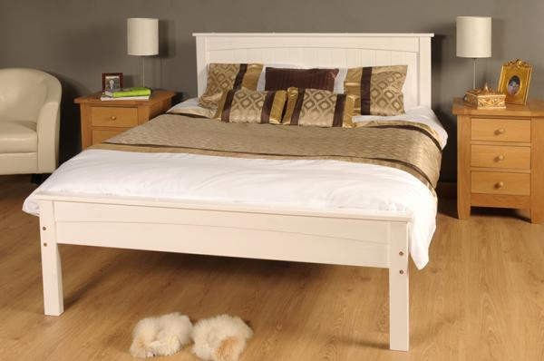 White King Size Bed Frame 600 x 398