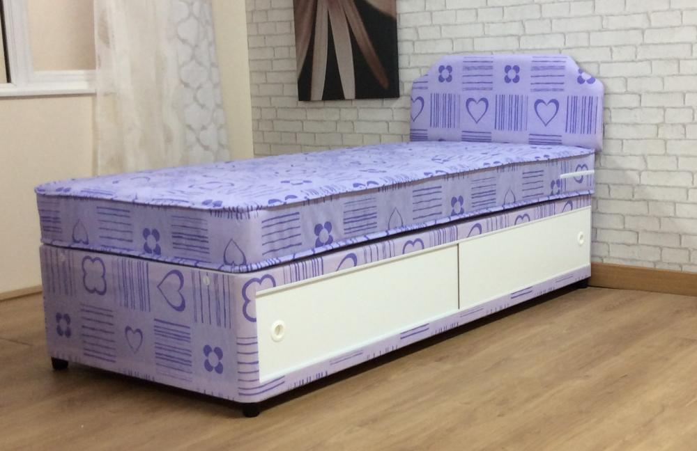 3ft Girls Single Divan Bed With Mattress And Headboard Princess Bed And Children