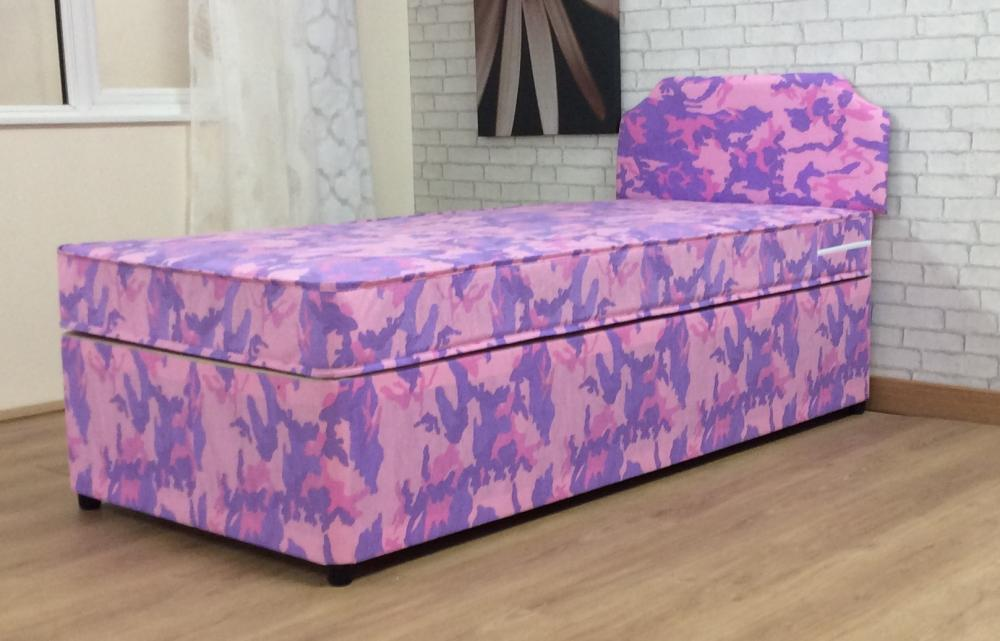 3ft girls single divan bed with mattress and headboard for Single divan bed with headboard