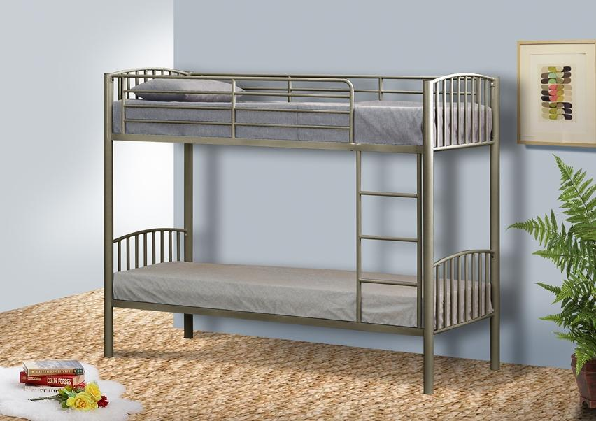 Metal Single Bunk Bed In Ft Bunk Metal Frame White Black Silver - Small single bunk beds