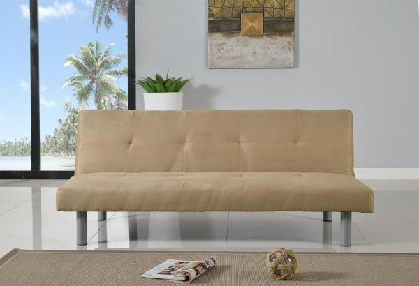 faux suede canterbury fabric sofa bed 3 seater clickclack sofa in 4 colours