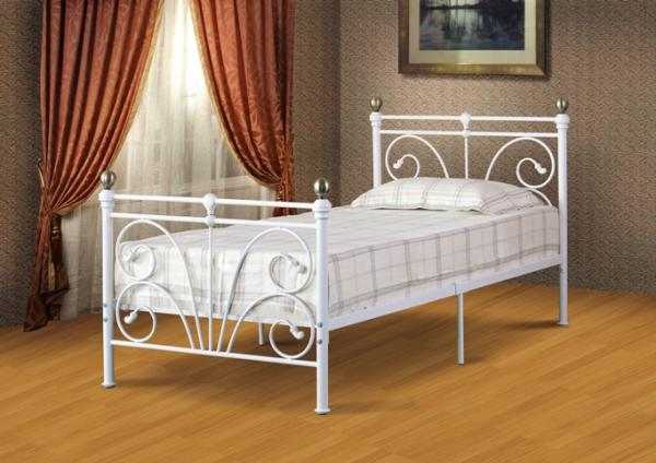 Clearance Beautiful Ornate Metal Bed Frame Ivory Amp Gold In