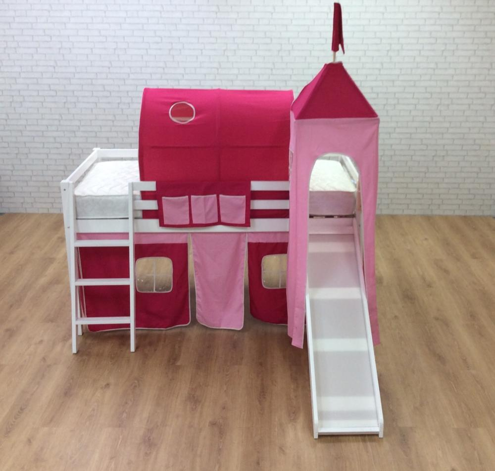 Cabin beds spiderman spiderman cabin bed with slide - Cabin Bed With Slide Pink Castle Undertent Turret