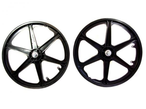 BMX-Bike-Bicycle-6-Spoke-20-Front-or-Rear-Mag-Wheels-Steel-Hub-10mm-Axle-WH300