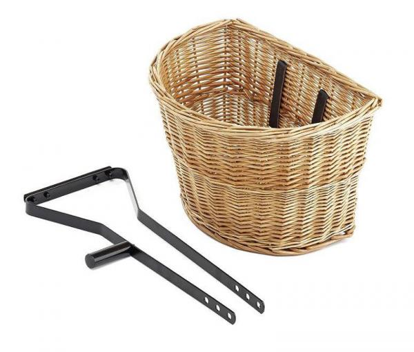 Handmade Bicycle Baskets : Bike bicycle handmade front handlebar wicker basket