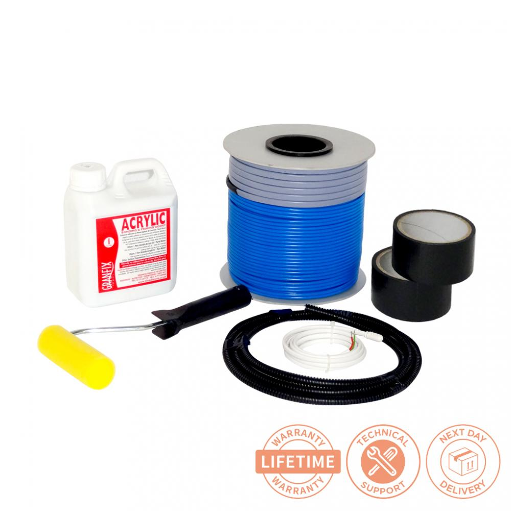 Electric Floor Heating Cable : Electric underfloor heating loose cable kit m ebay