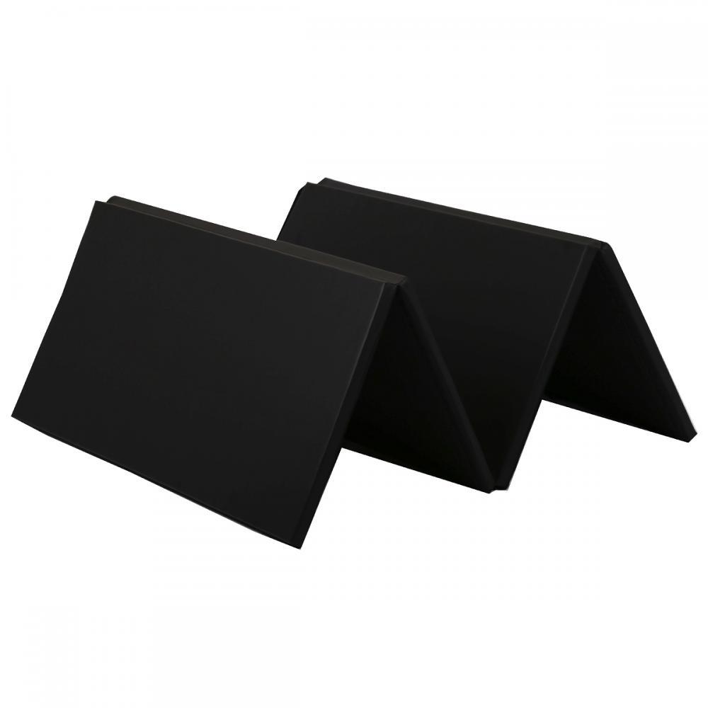 Black Blue Folding Gymnastics Gym Exercise Mats 4'x8'x2