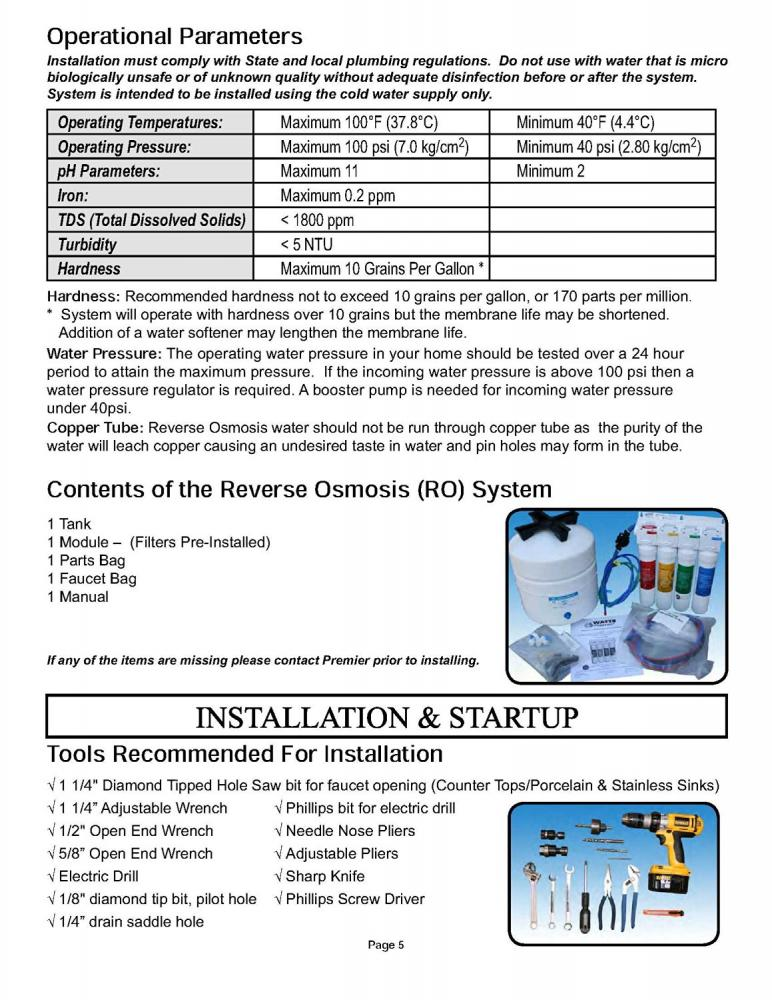 Watts Premier Ro Pure 4 Stage Reverse Osmosis System Ebay