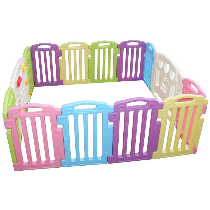 Baby playpen kids 14 panel safety play center yard home for Baby play centre