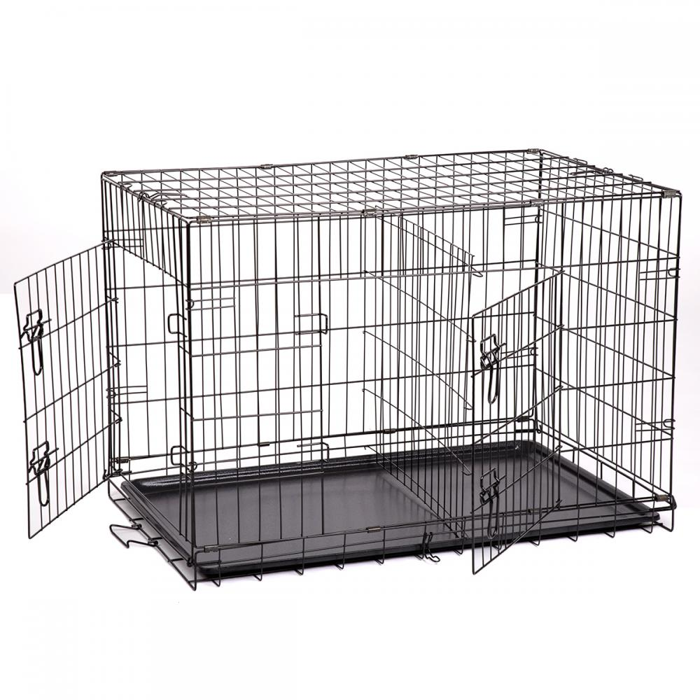 dog pet 6 size cage collapsible metal crate kennel outdoor house playpen - Collapsible Dog Crate