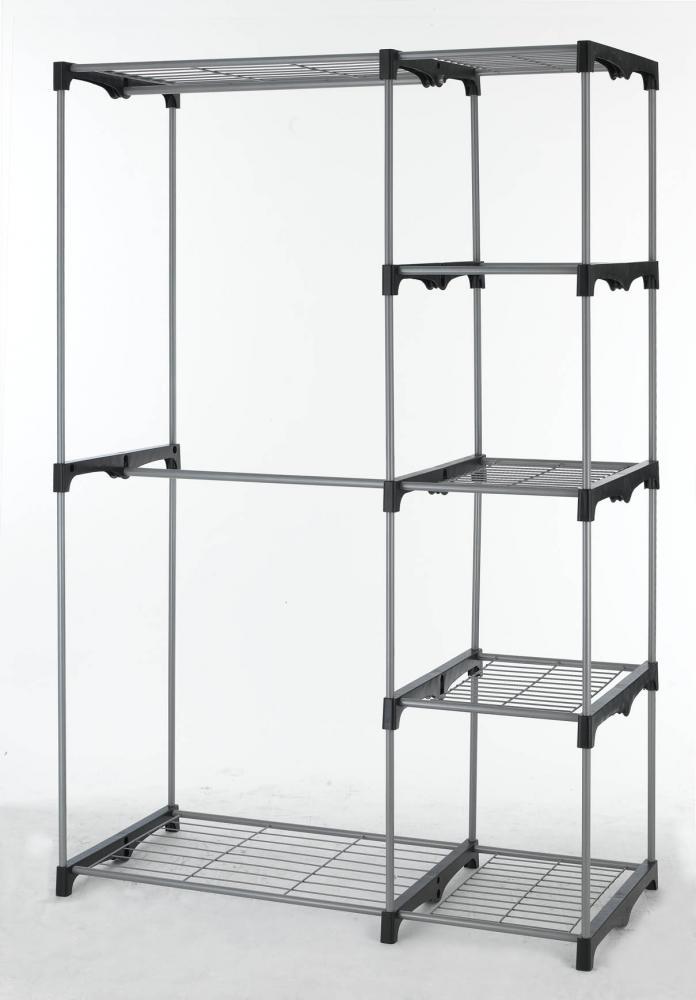closet organizer storage rack portable clothes hanger home. Black Bedroom Furniture Sets. Home Design Ideas