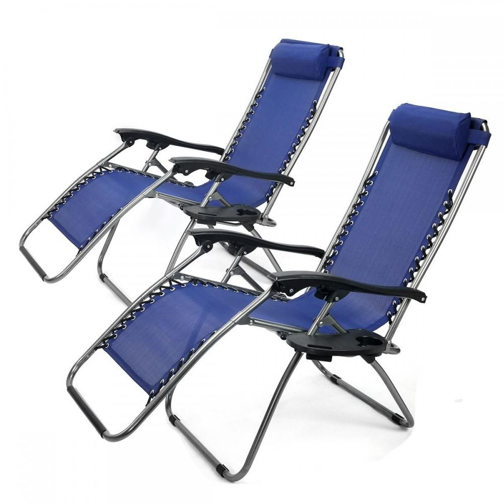 New Zero Gravity Chairs Case 2 Lounge Patio Chairs Outdoor Yard Beach O62