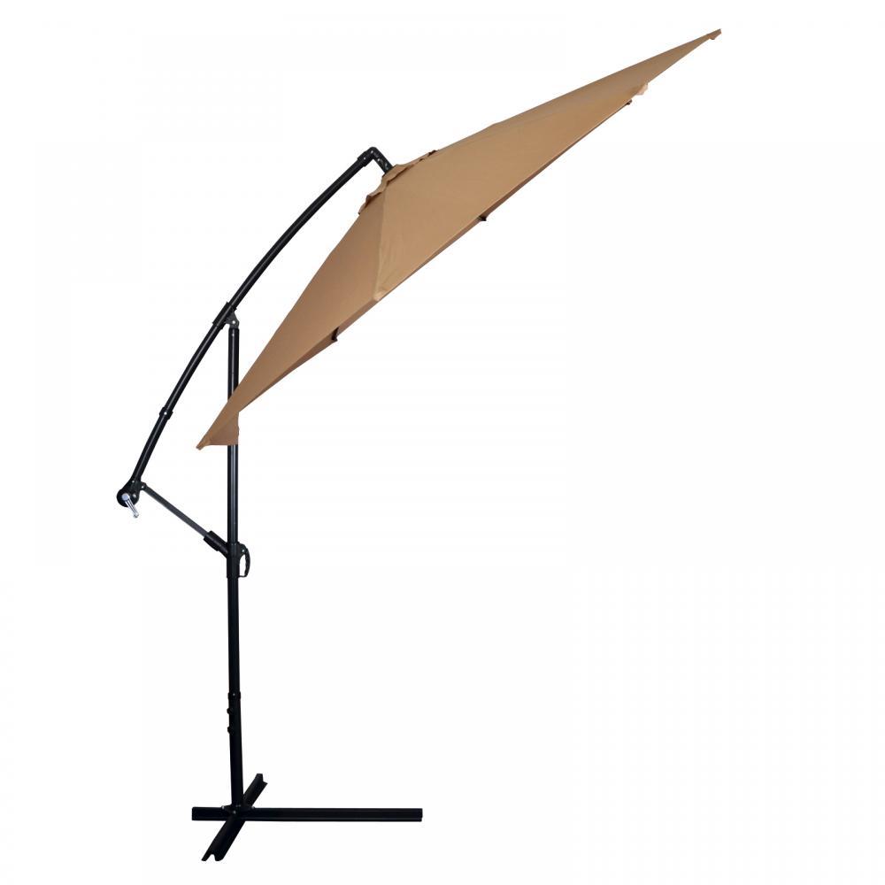 New Tan Patio Umbrella Offset 10u0027 Hanging Umbrella Outdoor Market Umbrella  D10