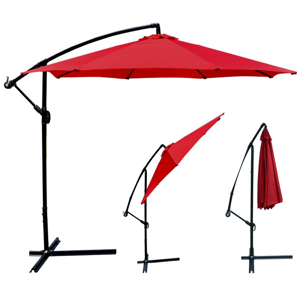 New 10 39 patio umbrella offset hanging umbrella outdoor for Balcony umbrella