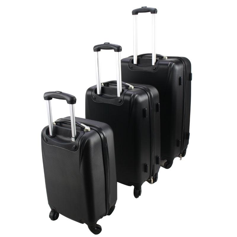 3-Pieces ABS Trolley Suitcase