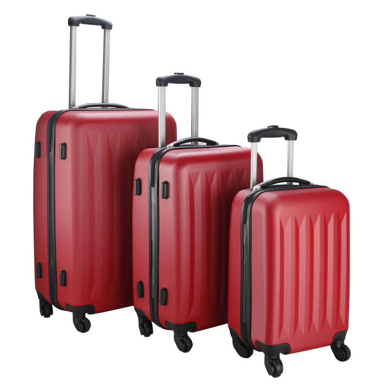New 3 Pcs Luggage Travel Set Bag ABS Trolley Suitcase 4 Color 2048 ...