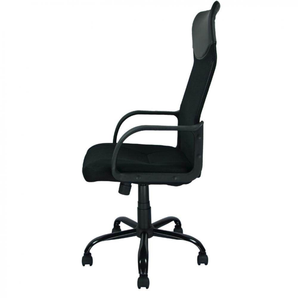 new black modern fabric mesh high back office task chair computer