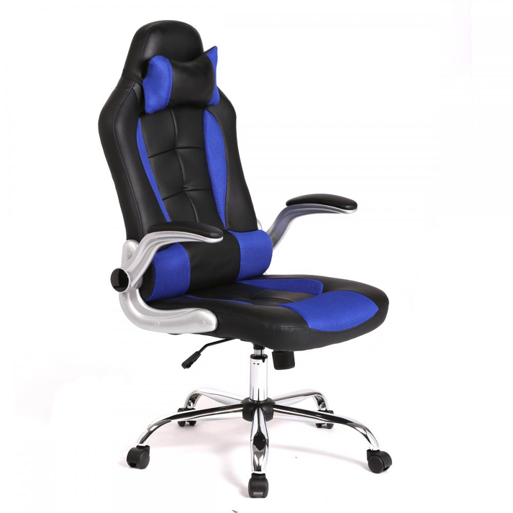 new high back race car style bucket seat office desk chair gaming chair c55 martlocal. Black Bedroom Furniture Sets. Home Design Ideas