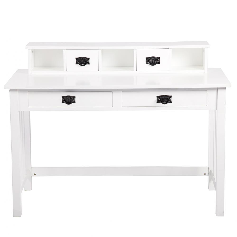 white writing contemporary desk home office furniture wood drawers  - white writing contemporary desk home office furniture wood drawers storage