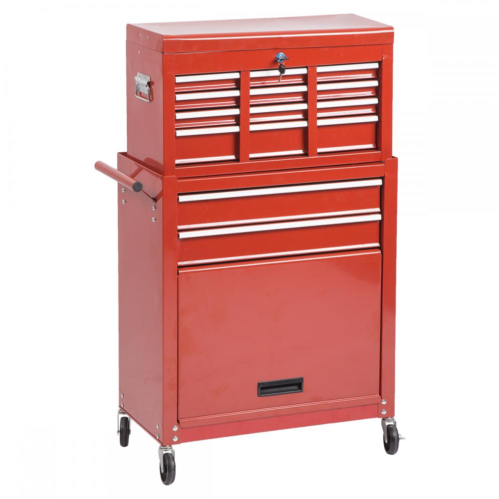 Portable Storage Cabinet Short : Portable tool chest rolling toolbox storage cabinet
